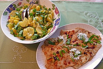 Maischolle auf Kartoffel - Bärlauch - Salat 2