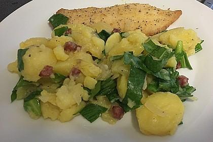 Maischolle auf Kartoffel - Bärlauch - Salat 3