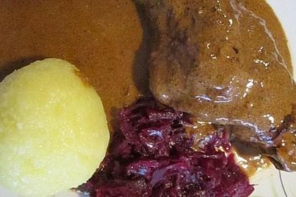 In Rotwein geschmorte Kaninchenkeulen mit Spätzle 6