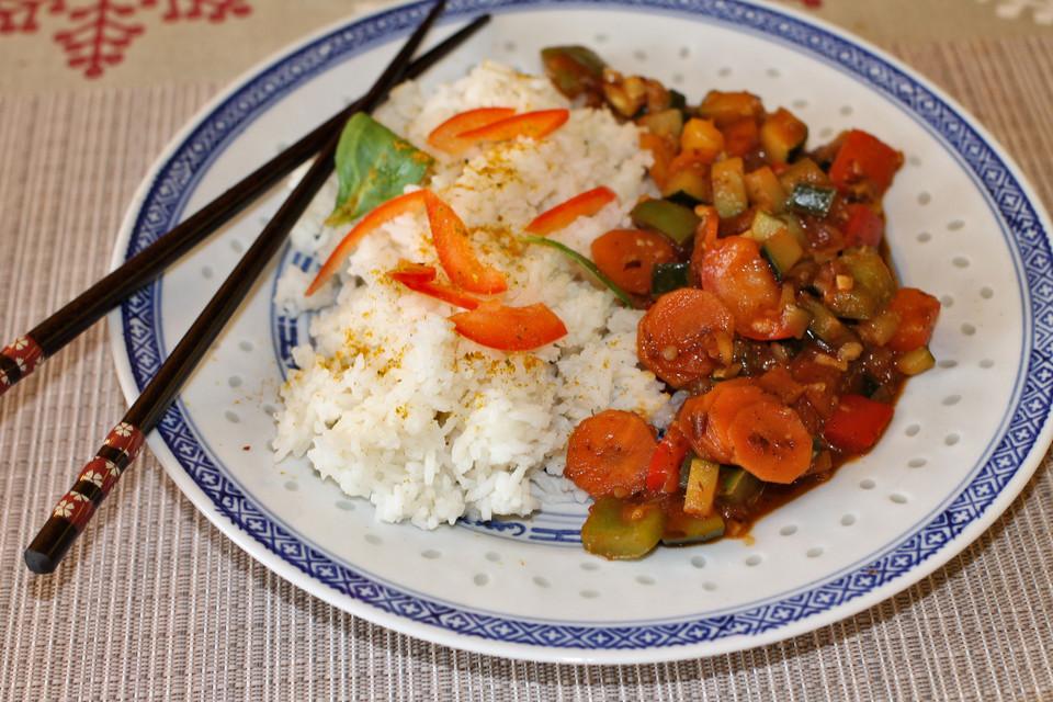 Schnelle Gemüsepfanne - chinesisch (Rezept mit Bild) | Chefkoch.de