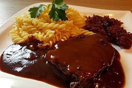Rinderbraten in Rotwein