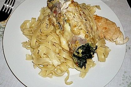 Hähnchenbrust mit Käse - Spinat - Füllung 7