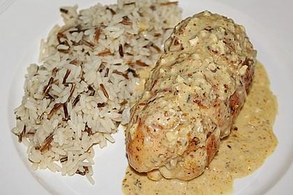 Hähnchenbrust mit Käse - Spinat - Füllung