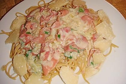 Spaghetti Carbonara light 16