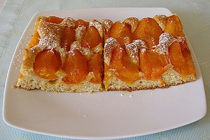 Marillenkuchen am Blech 1