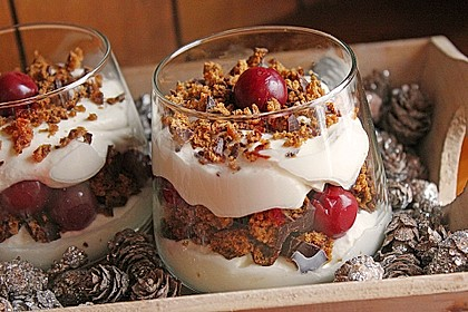Weihnachtliches Lebkuchen - Schicht - Dessert 0
