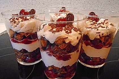 Weihnachtliches Lebkuchen - Schicht - Dessert 1