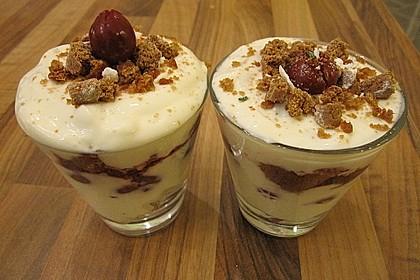 Weihnachtliches Lebkuchen - Schicht - Dessert 6