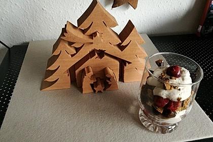 Weihnachtliches Lebkuchen - Schicht - Dessert 5