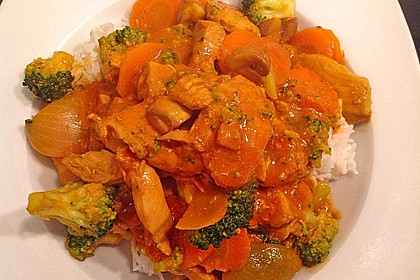 Hähnchencurry Low Carb 5