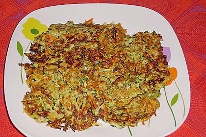 Möhren - Zucchini - Bratlinge 6