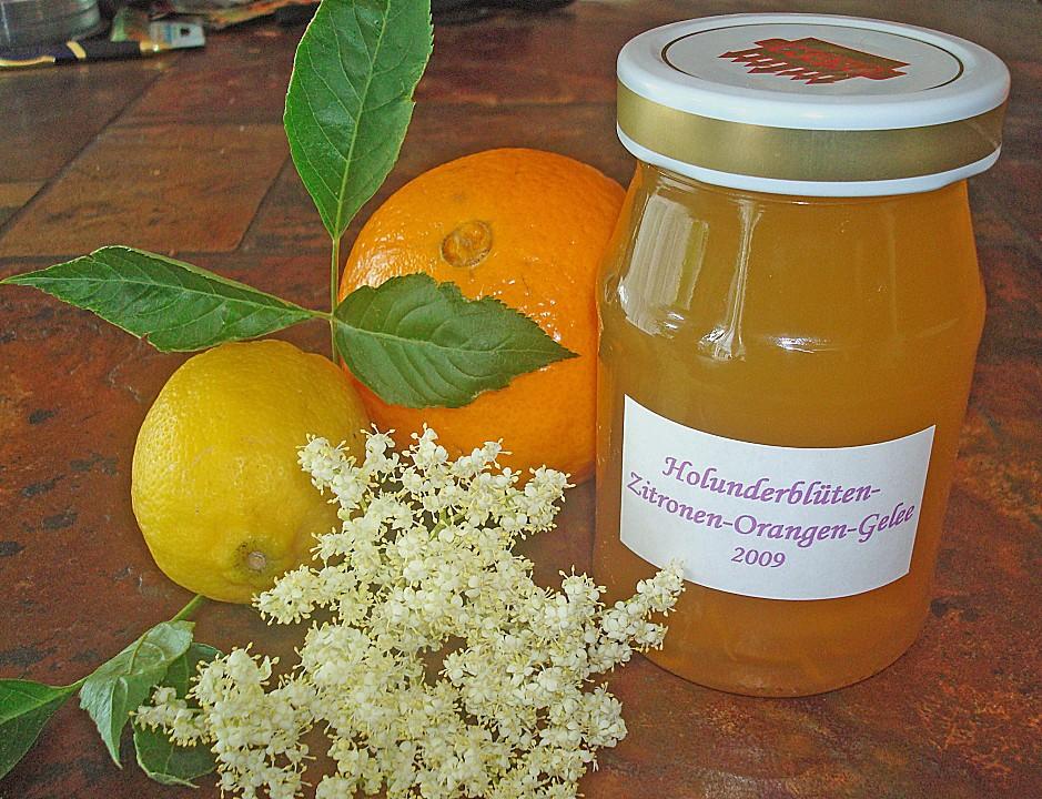 Holunderblüten - Zitronen - Orangen - Gelee von bipol