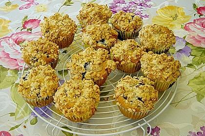 Kirsch - Muffins mit Kokosstreusel 20