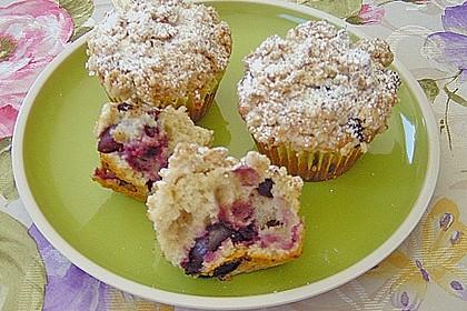 Kirsch - Muffins mit Kokosstreusel 11