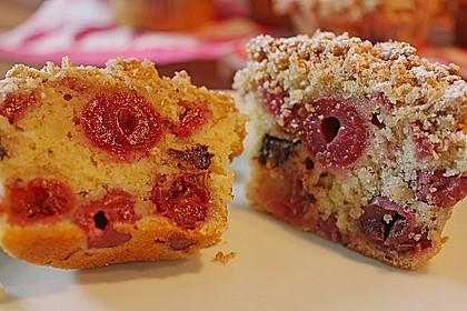 Kirsch - Muffins mit Kokosstreusel 5
