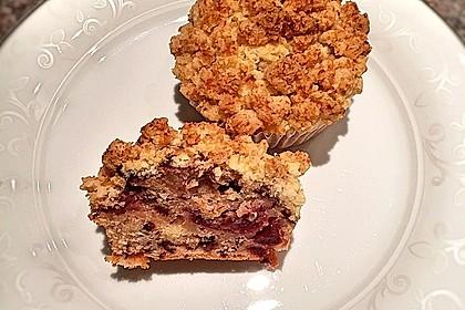 Kirsch - Muffins mit Kokosstreusel 22