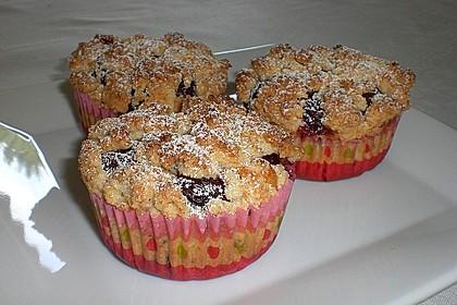 Kirsch - Muffins mit Kokosstreusel 8
