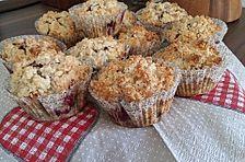 Kirsch - Muffins mit Kokosstreusel
