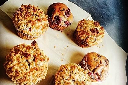 Kirsch - Muffins mit Kokosstreusel 16
