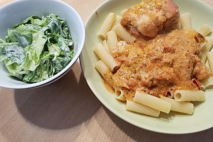 Gefüllte Hähnchenröllchen mit Pesto, Feta und Schinken  à la Toscana 20