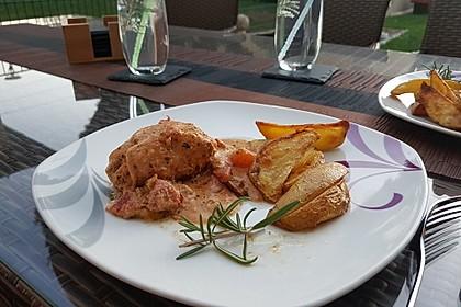 Gefüllte Hähnchenröllchen mit Pesto, Feta und Schinken  à la Toscana 29