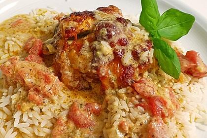 Gefüllte Hähnchenröllchen mit Pesto, Feta und Schinken  à la Toscana 13