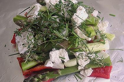 Chicas Feta -  Päckchen mit grünem Spargel vom Grill