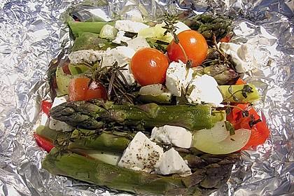 Chicas Feta -  Päckchen mit grünem Spargel vom Grill 2