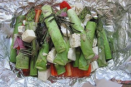 Chicas Feta -  Päckchen mit grünem Spargel vom Grill 5
