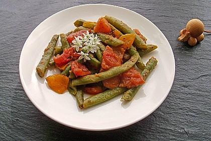 Grüne Bohnen mit Tomaten