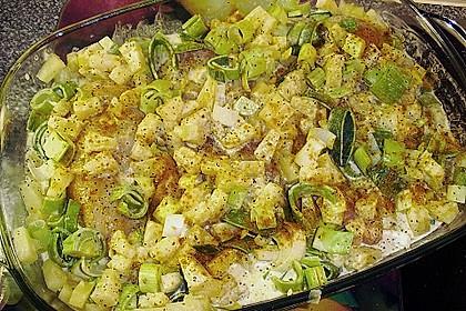 Zarte Hähnchenbrust auf dem Lauchbett in fruchtiger Ananas - Currysoße 4