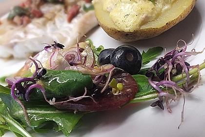 Blattsalat mit Roter Bete und Schafskäse 4