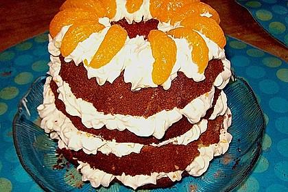 Mandarinen - Haselnuss - Kuchen