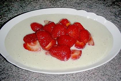 Erdbeeren auf Bananenschaum 3