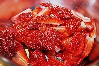 Erdbeeren auf Bananenschaum 9