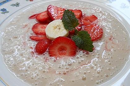 Erdbeeren auf Bananenschaum 2