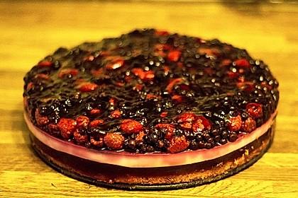 Heidelbeer - Pudding - Kuchen