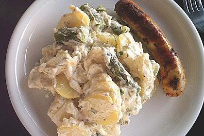 Kartoffelsalat mit grünem Spargel 1