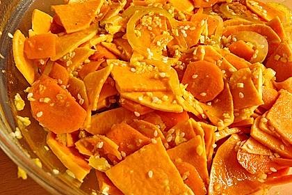 Süßkartoffel - Steckrüben - Rohkost
