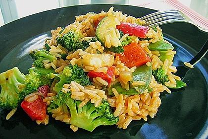 Bunte Tomaten - Reis - Pfanne