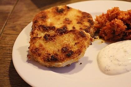 Kohlrabi paniert/gebacken mit Kräutersauce 14
