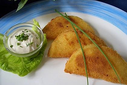Kohlrabi paniert/gebacken mit Kräutersauce 1