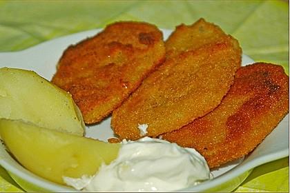 Kohlrabi paniert/gebacken mit Kräutersauce 2