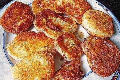 Kohlrabi paniert/gebacken mit Kräutersauce 3