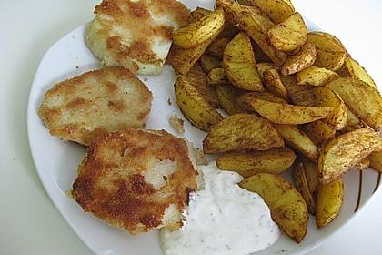 Kohlrabi paniert/gebacken mit Kräutersauce 5