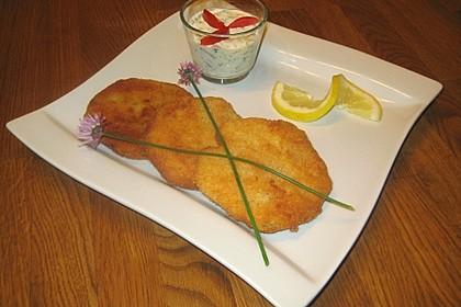 Kohlrabi paniert/gebacken mit Kräutersauce 7