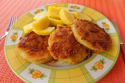 Kohlrabi paniert/gebacken mit Kräutersauce 10