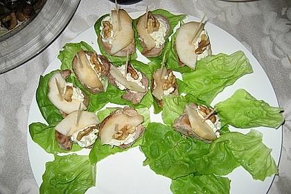 Medaillons mit Roquefort und Birne