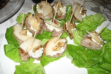 Medaillons mit Roquefort und Birne 1