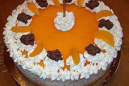 Pfirsich - Käsesahnetorte mit Choco Crossies 4